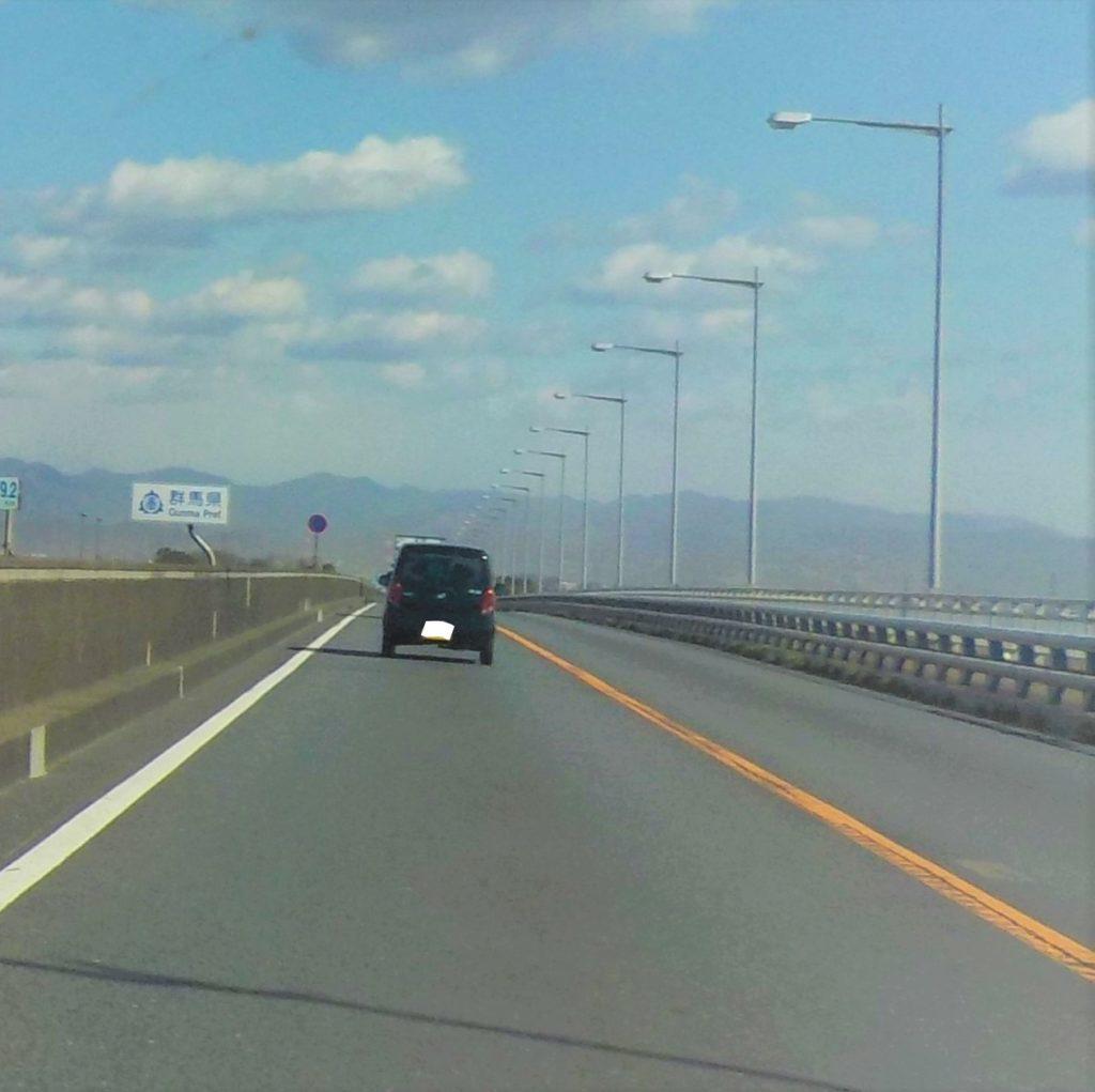 新上武大橋上の群馬県の看板