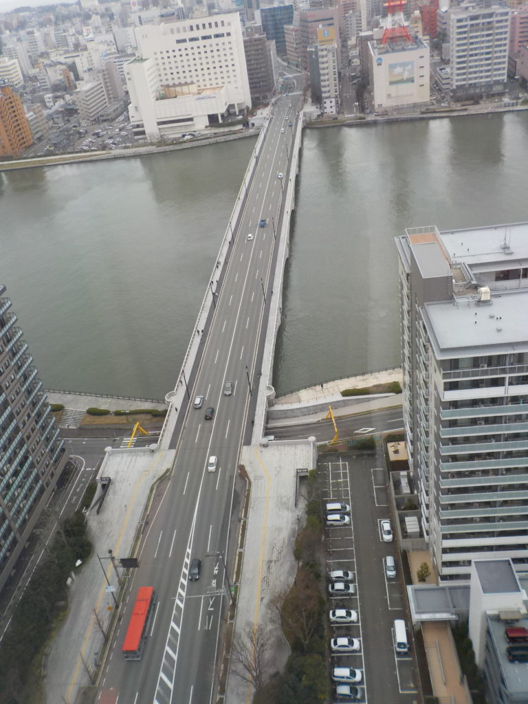 メディアシップから見下ろる萬代橋